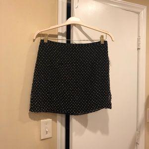 Club Monaco Beaded Mini Skirt